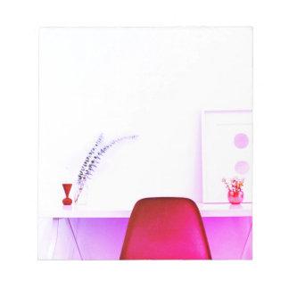 Bloc-note Chaise de professeur de roses indien du bureau de