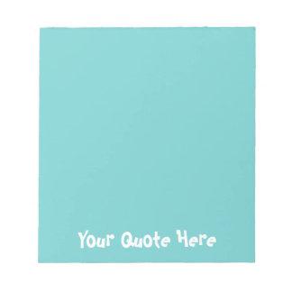 Bloc-note Ciel turquoise coloré