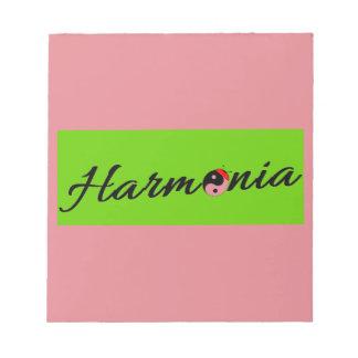 Bloc-note Coccinelle Harmonia zen