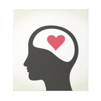 Bloc-note Coeur dans une tête