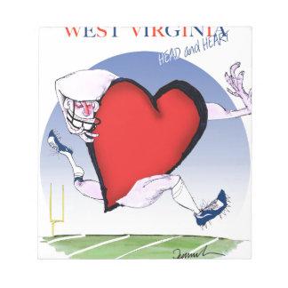 Bloc-note coeur principal de W la Virginie, fernandes