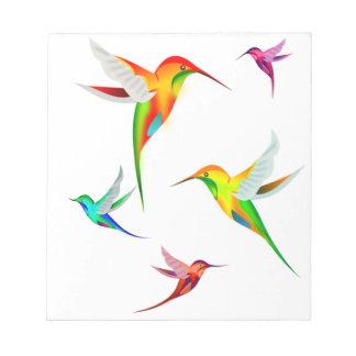 Bloc-note Colibris mignons dans des couleurs lumineuses -