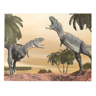 Bloc-note Combat de dinosaures d'Aucasaurus - 3D rendent