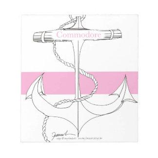 Bloc-note commodore rose, fernandes élégants