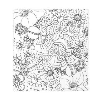 Bloc-note Conglomération des fleurs