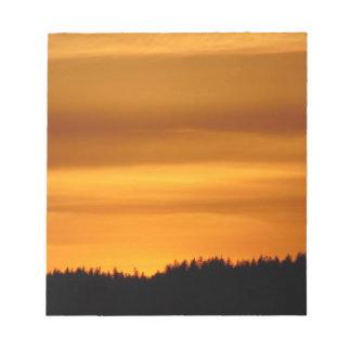 Bloc-note Coucher du soleil orange
