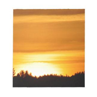 Bloc-note Coucher du soleil très orange