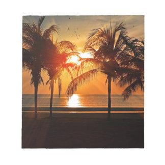 Bloc-note Coucher du soleil tropical