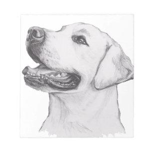 Bloc Note Dessin Classique De Profil De Chien De Labrador
