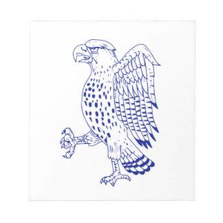 Bloc-note dessin de marche Pointu-shinned de faucon