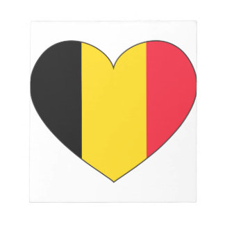 Bloc-note Drapeau de la Belgique simple