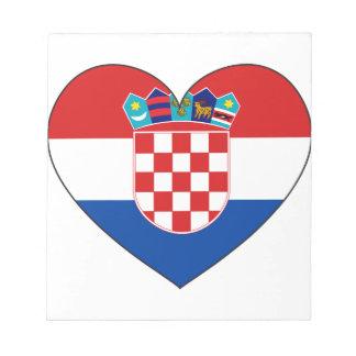 Bloc-note Drapeau de la Croatie simple