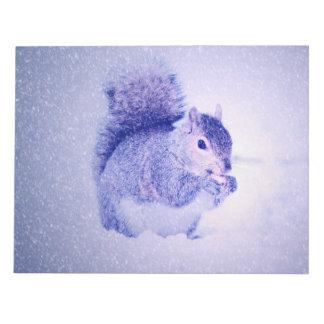 Bloc-note Écureuil dans la neige