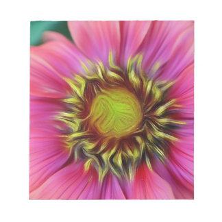 Bloc-note fleur assez rose