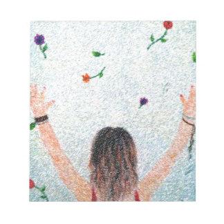 Bloc-note Flower Girl