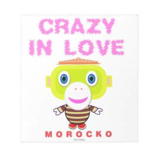 Bloc-note Fou chez le Singe-Morocko amour-Mignon