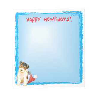 Bloc-note Fox Terrier heureux de fil de Howlidays
