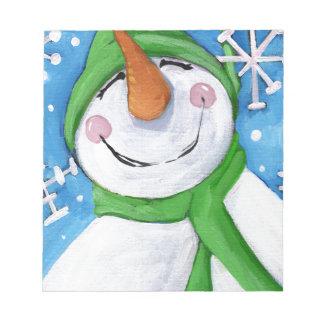 Bloc-note Givré le bonhomme de neige heureux
