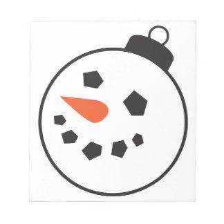 Bloc-note Globe de bonhomme de neige