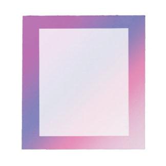 Bloc-note gradient bleu pourpre rose élégant d'ombre coloré