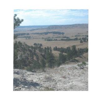 Bloc-note Hautes collines de désert