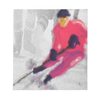 Bloc-note Hockey, il tire et marque l'art