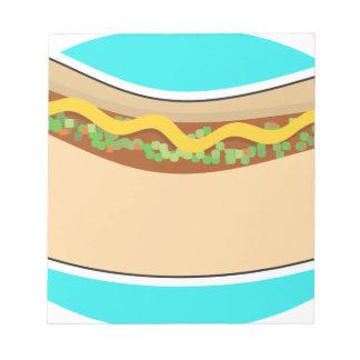 Bloc-note Hot-dog et goût