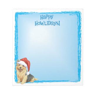 Bloc-note Howlidays heureux Norfolk Terrier