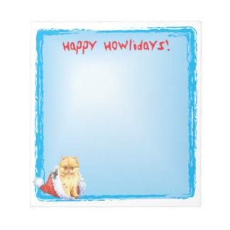 Bloc-note Howlidays heureux Pomeranian