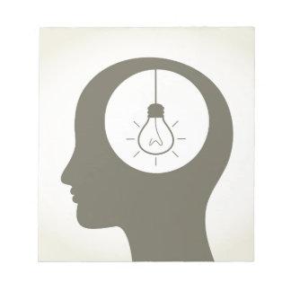 Bloc-note Idée dans une tête