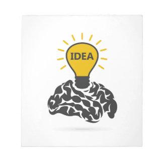 Bloc-note Idée d'un cerveau