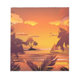 Bloc-note Île tropicale à Sunset2