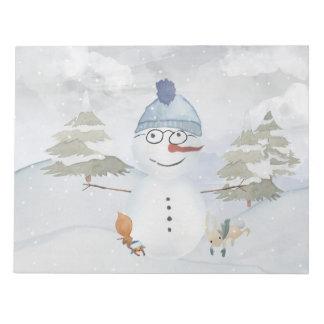 Bloc-note Illustration animale d'animal de neige de bonhomme