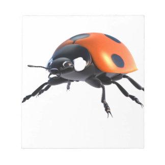 Bloc-note Insecte d'isolement de dame