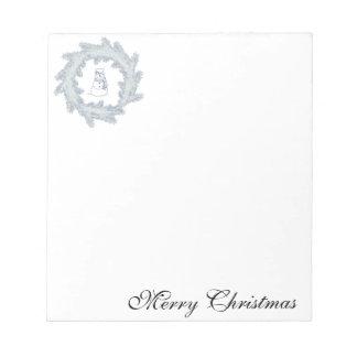 Bloc-note Joyeux Noël de bonhomme de neige gai adorable