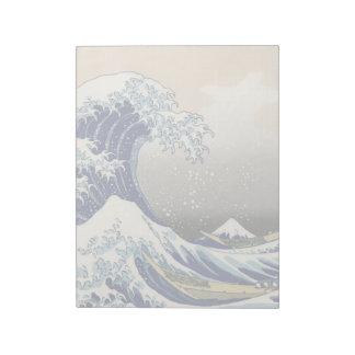 Bloc-note KATSUSHIKA HOKUSAI - La grande vague outre de