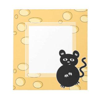 Bloc-note La souris mignonne aime le fromage