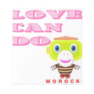 Bloc-note L'amour peut Singe-Morocko Faire-Mignon