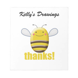 Bloc-note Le bonbon gaffent l'abeille dit des mercis