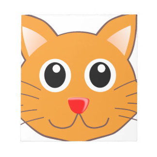 Bloc-note Le chat orange au nez rouge