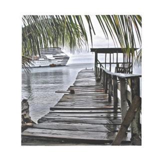Bloc-note Le dock de détente