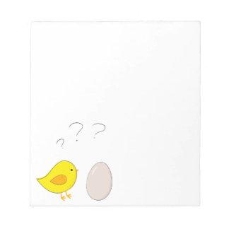 Bloc-note Le poulet ou la bande dessinée mignonne de Pâques