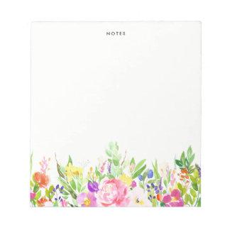 Bloc-note Le ressort coloré d'aquarelle fleurit floral