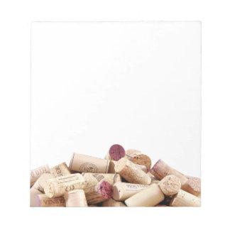 Bloc-note Le vin bouche le bloc - notes