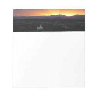 Bloc-note Lever de soleil au-dessus de paysage de St George