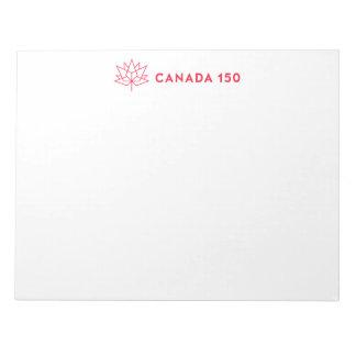 Bloc-note Logo de fonctionnaire du Canada 150 - contour