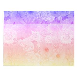Bloc-note Mariage floral en pastel de Boho de fleurs de