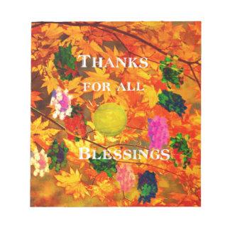 Bloc-note Merci pour des bénédictions