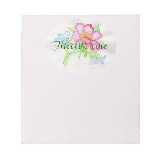 Bloc-note Mini bouquet floral TY de rose sauvage rose