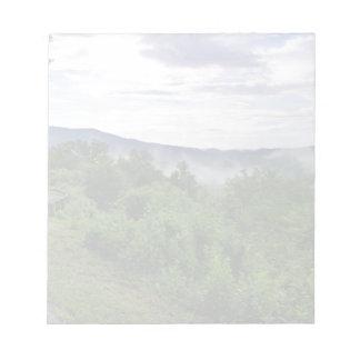 Bloc-note Montagnes fumeuses dans Great Smoky Mountains